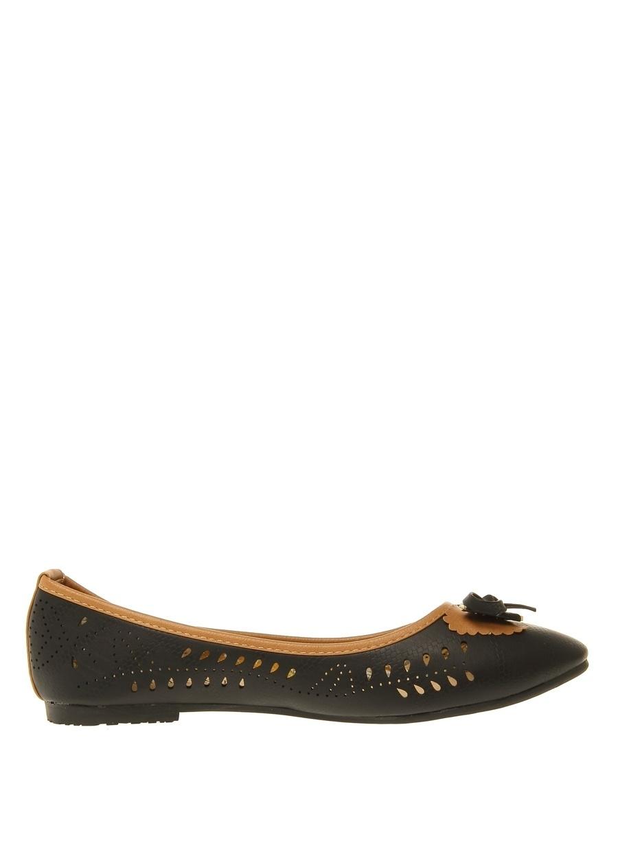 40 Siyah Casa Rossi Babet Ayakkabı Çanta Kadın