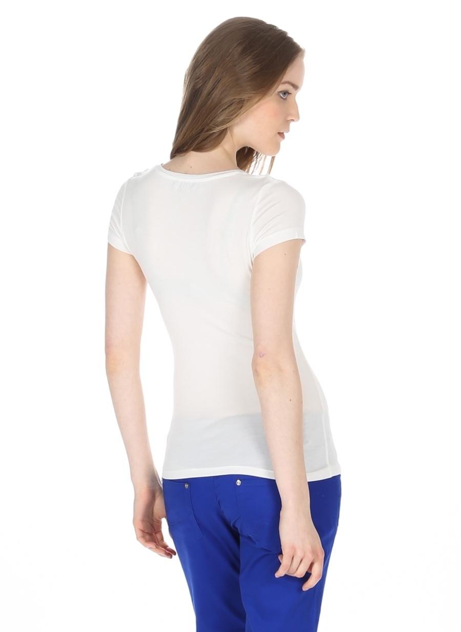 L Koyu Ekru Morgan T-Shirt Kadın Giyim T-shirt Atlet