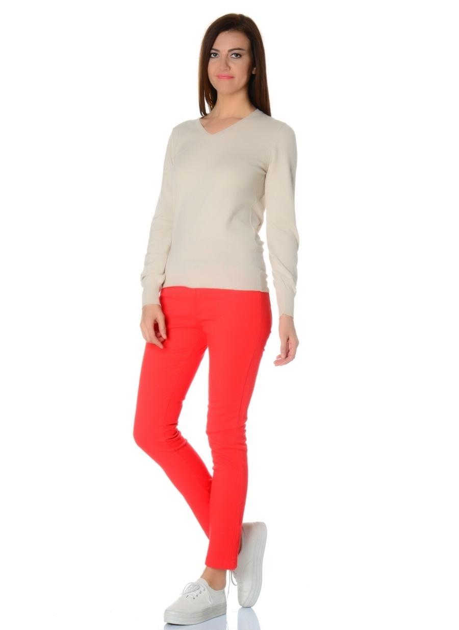 34 Kırmızı Loox Pantolon Kadın Giyim