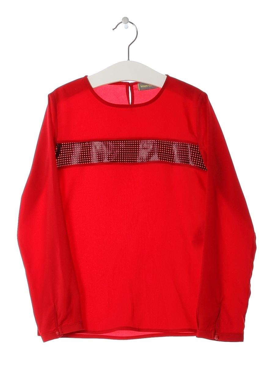 6 Yaş Kadın Kırmızı Limon Bluz Çocuk Giyim