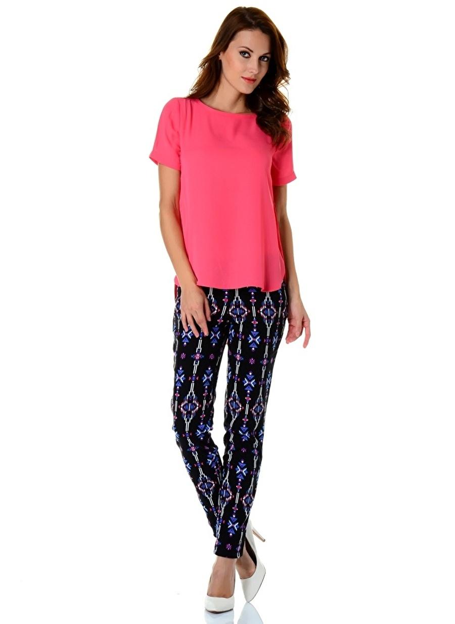 38 Fuşya Morgan Bluz Kadın Giyim Gömlek