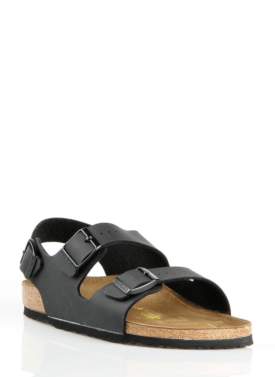 42 Siyah Birkenstock Terlik Ayakkabı Çanta Erkek Sandalet
