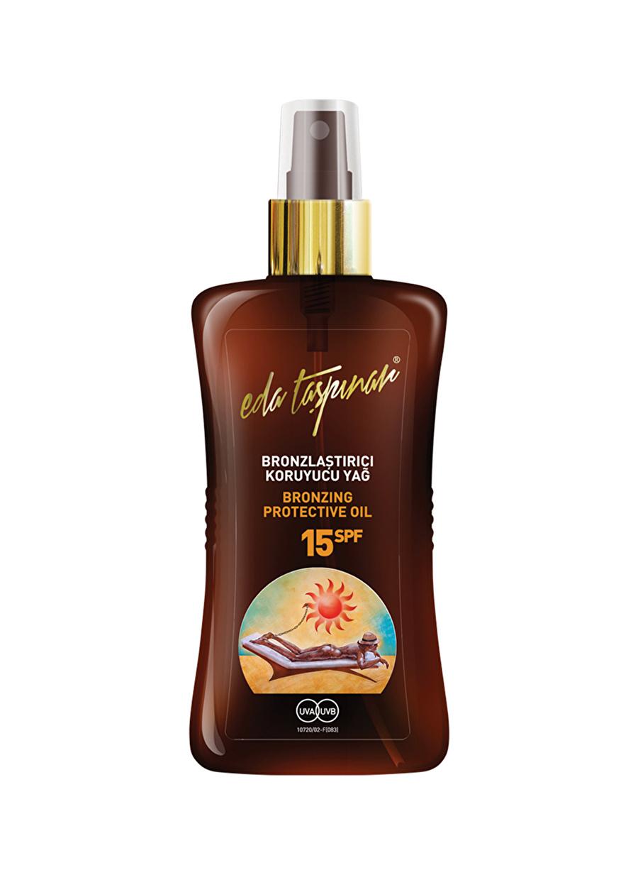 Standart Kadın Renksiz Eda Taşpinar Bronzlaştırıcı Koruyucu Yağ Spf15 200 ml Güneş Ürünü Kozmetik Ürünleri