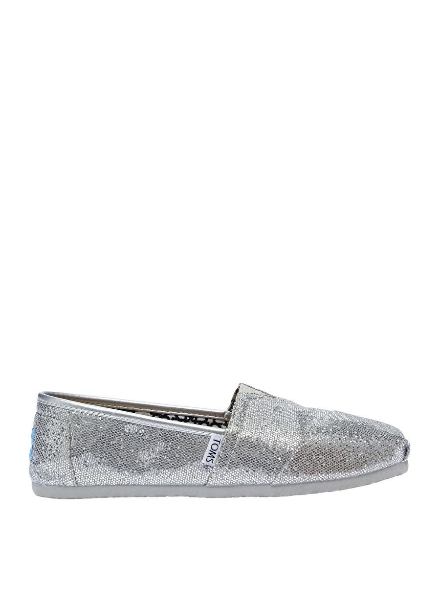 37.5 Gümüş Toms Babet Ayakkabı Çanta Kadın