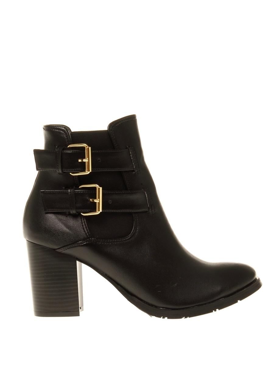 38 Siyah Gözegir Bot Ayakkabı Çanta Kadın Çizme