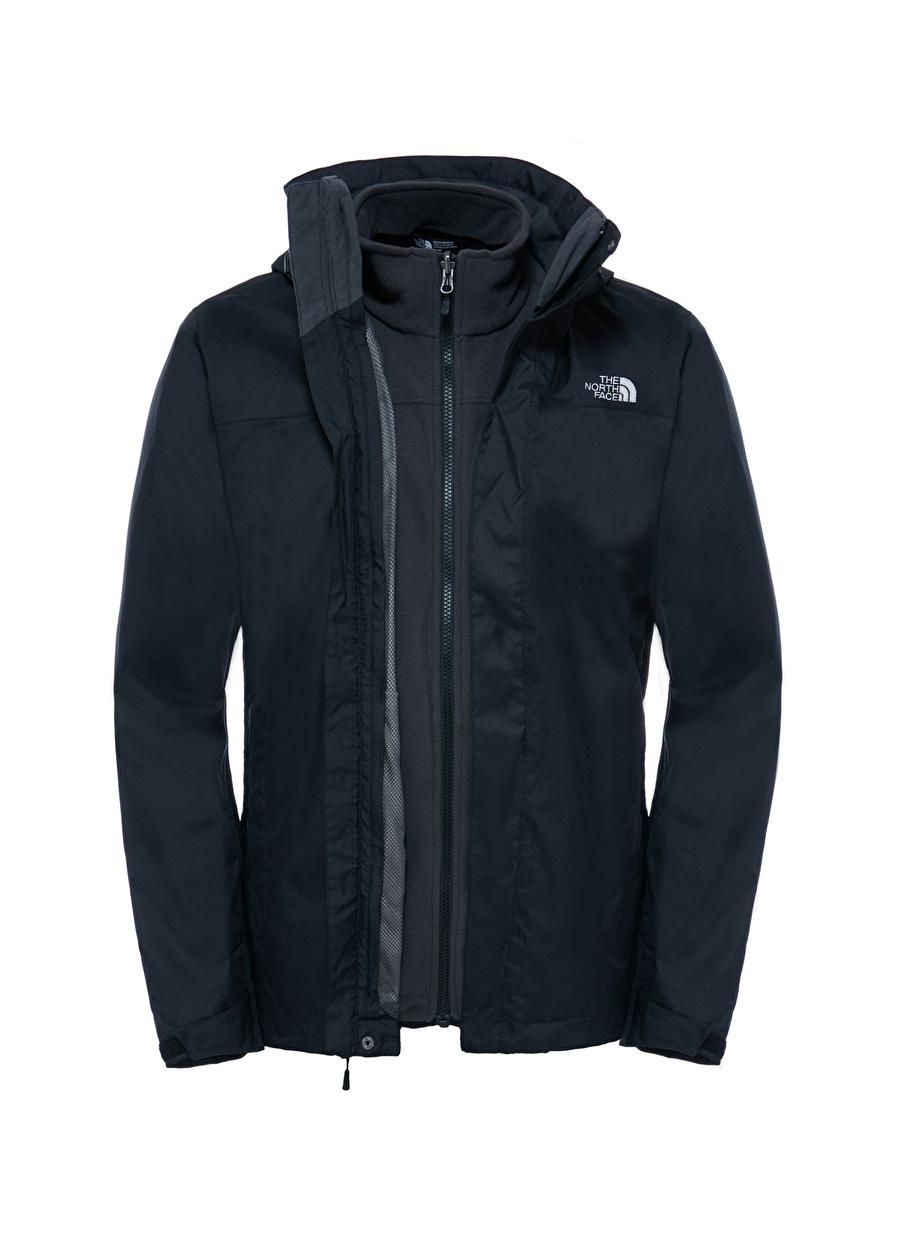 2XL Erkek Siyah The North Face M Evolve II Triclimate Jacket Mont Spor Outdoor Ürünler Ürünleri
