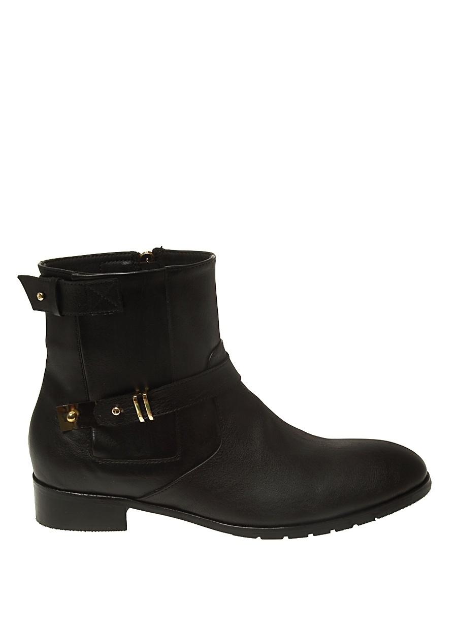39 Siyah Neosens Bot Ayakkabı Çanta Kadın Çizme