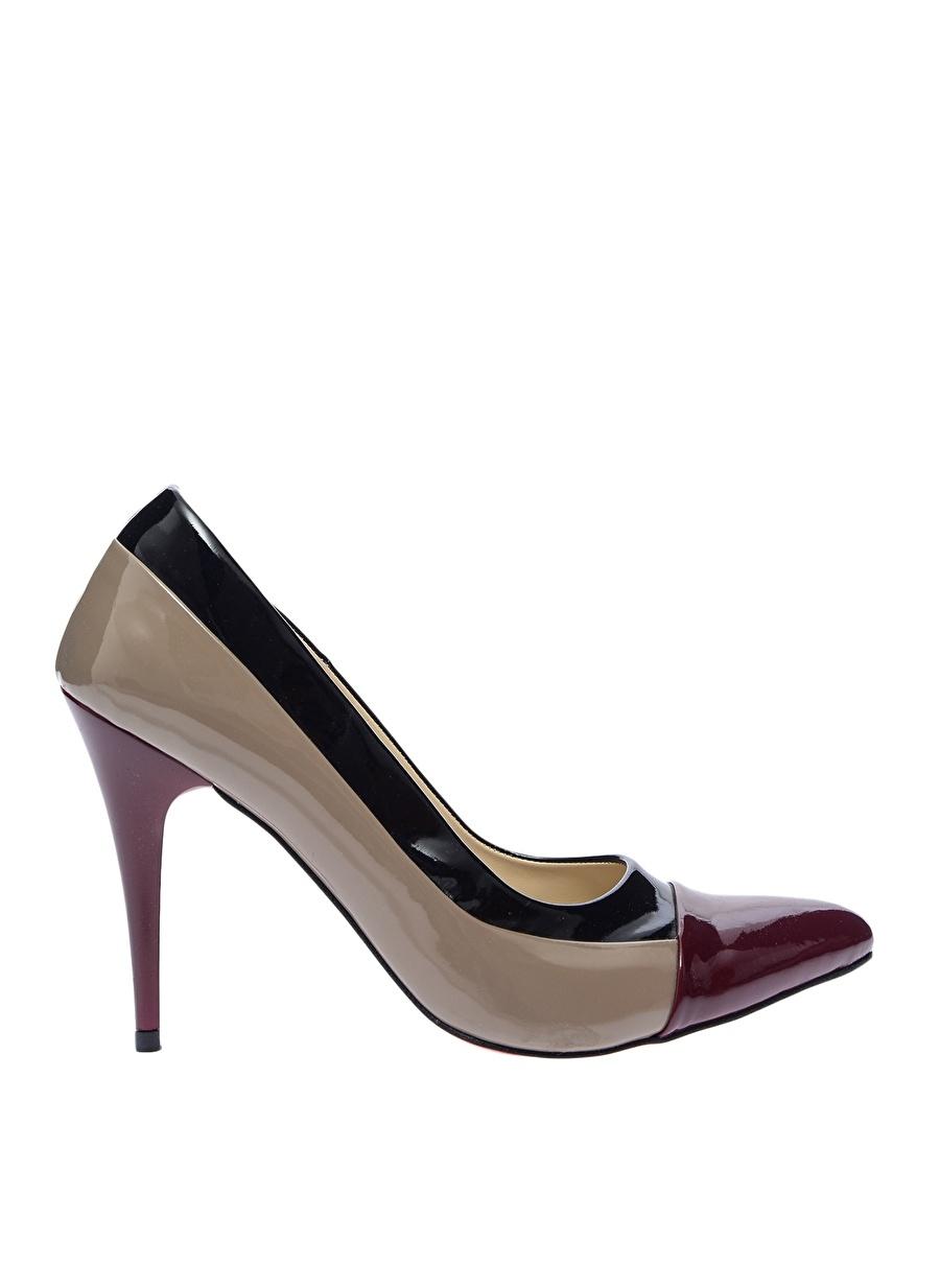 40 Kahve Neosens Topuklu Ayakkabı Çanta Kadın