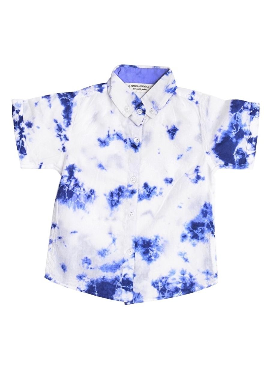 2 Yaş Erkek Beyaz Mammaramma Gömlek Çocuk Giyim