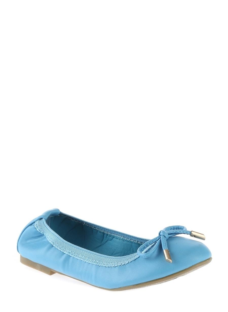 33 Kadın Mavi Limon Babet Ayakkabı Çanta Çocuk Ayakkabıları Babetler