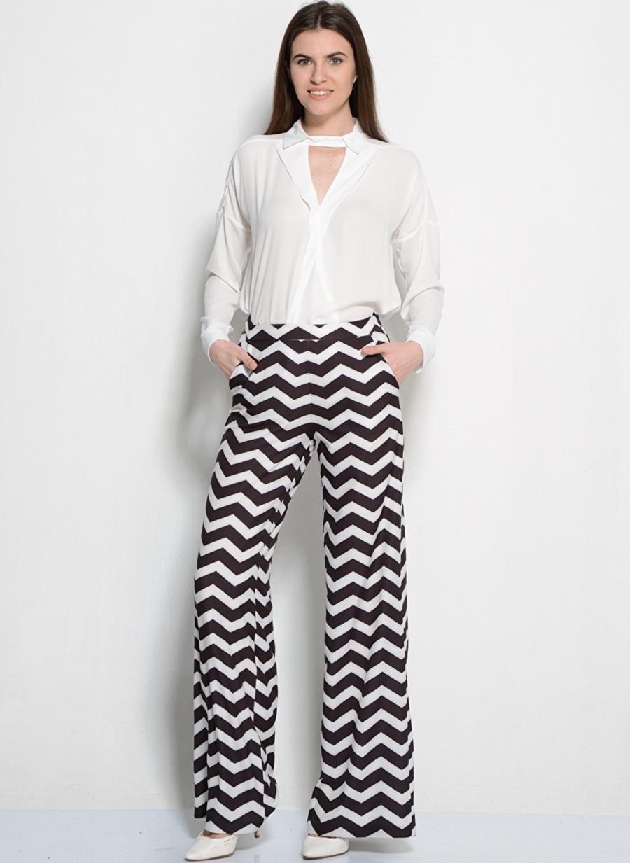 40 Siyah - Beyaz Kafdan By Elaidi Pantolon Kadın Giyim
