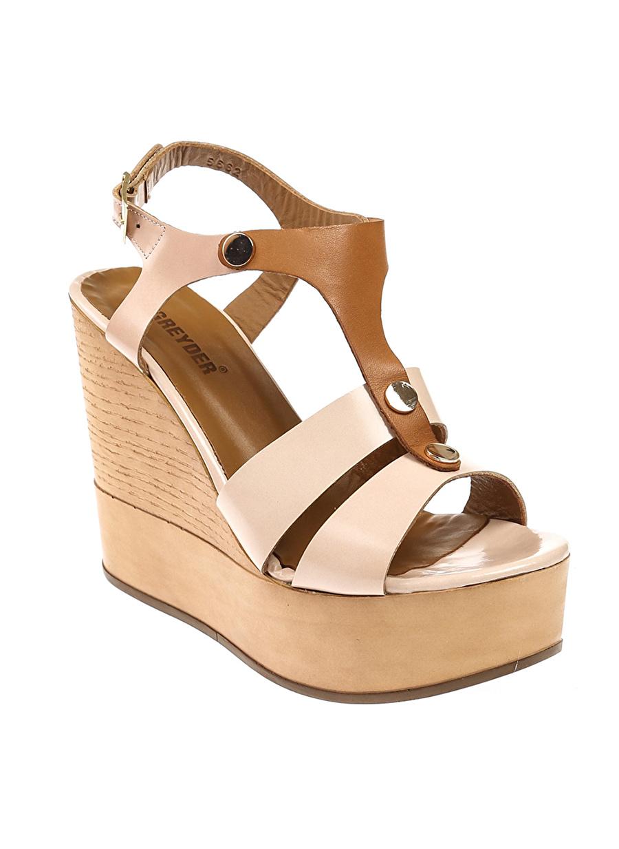 39 Beyaz Greyder Dolgu Tpklu Ayakkabi Ayakkabı Çanta Kadın Topuk