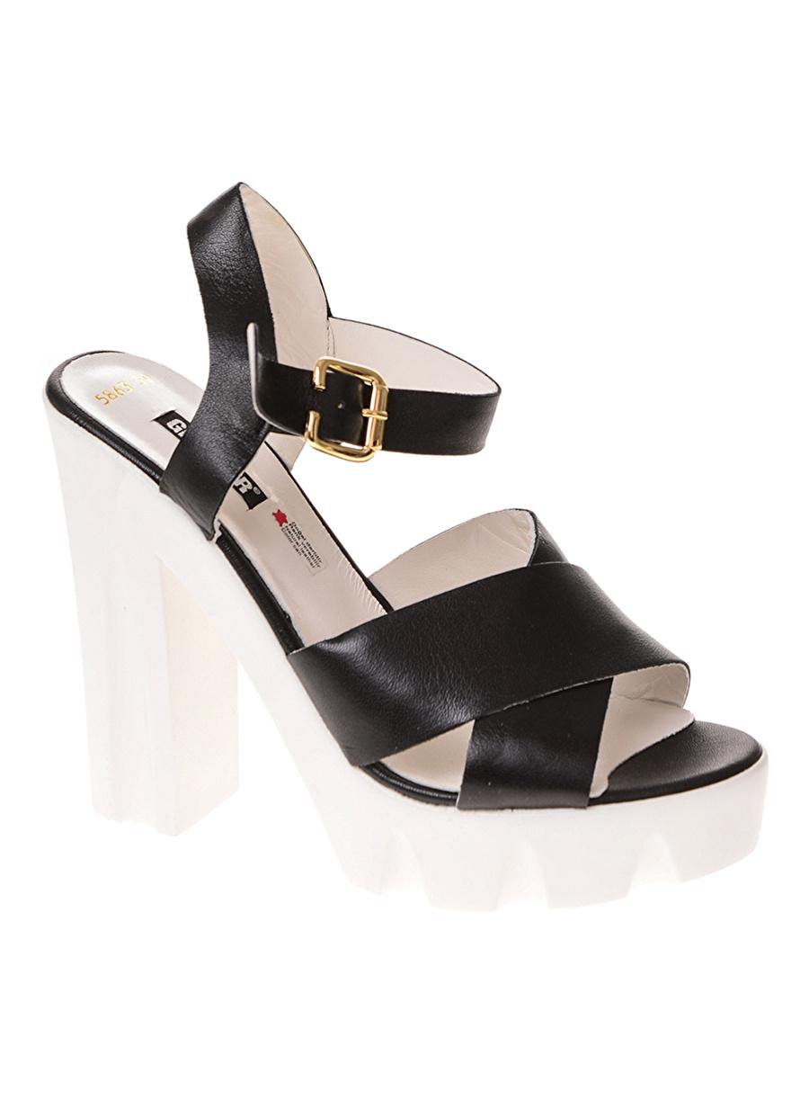 38 Siyah Greyder Topuklu Ayakkabı Çanta Kadın