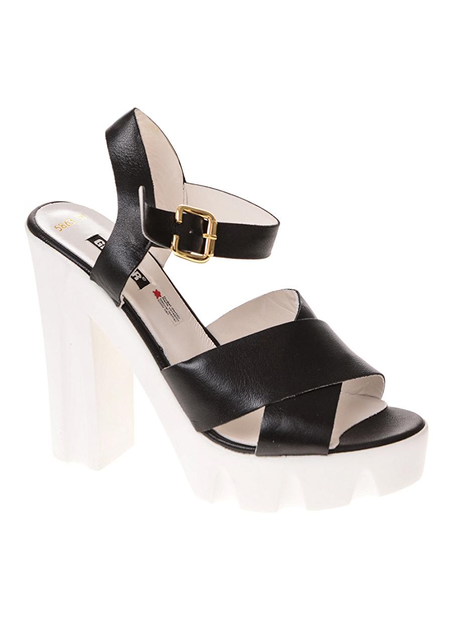 39 Taba Greyder Topuklu Ayakkabı Çanta Kadın