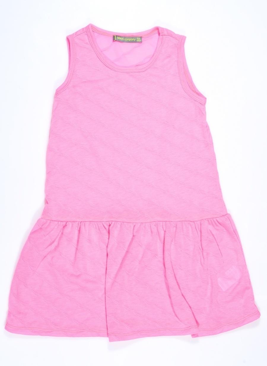 8 Yaş Kadın Pembe Limon Elbise Çocuk Giyim Tunik