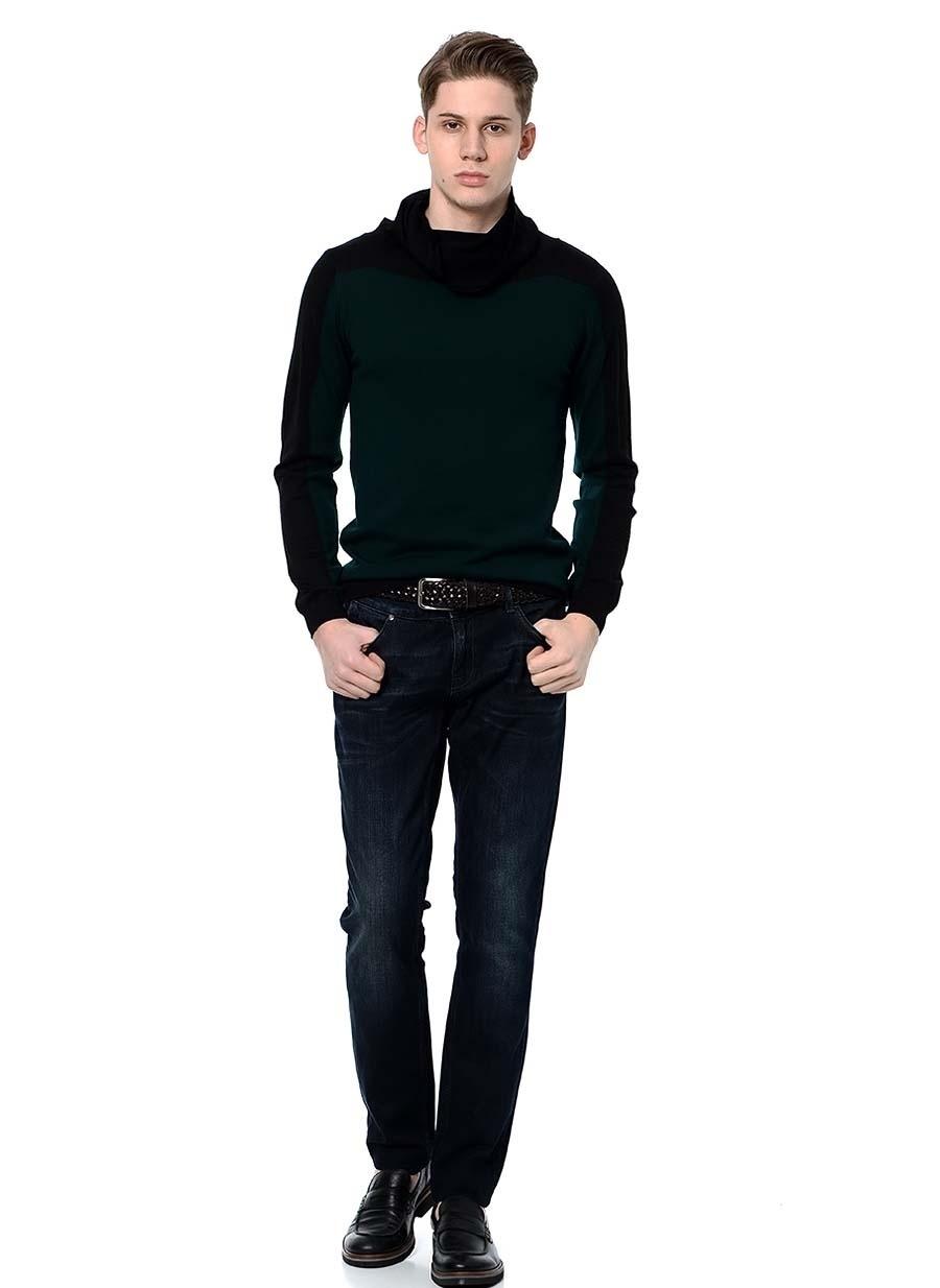 S Siyah Fabrika Kazak Erkek Giyim Hırka