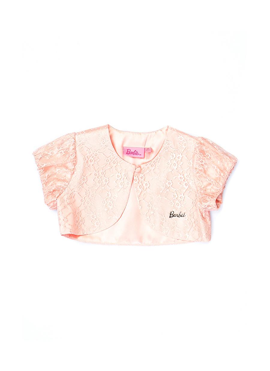 8 Yaş Kadın Pembe Barbie Tüllü Çocuk Bolero Giyim Yelek Ceket