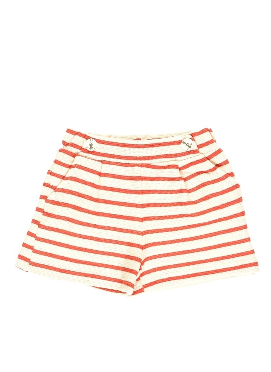 5 Yaş Kadın Kırmızı Mammaramma Şort Çocuk Giyim Capri