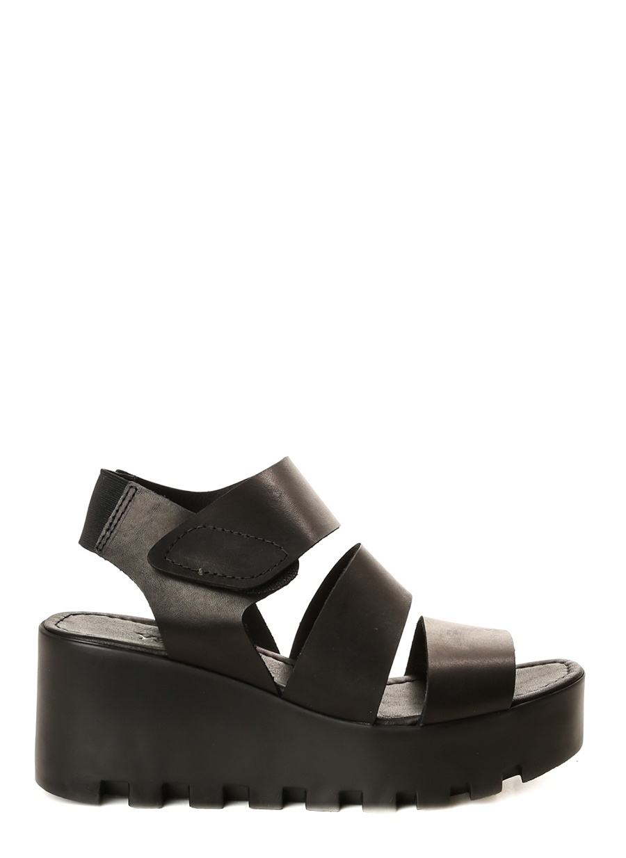 37 Siyah Yees Sandalet Ayakkabı Çanta Kadın Terlik