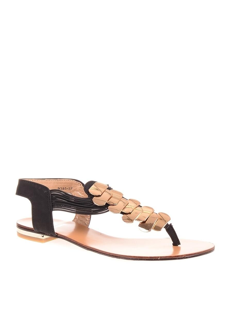 39 Siyah Dsn Sandalet Ayakkabı Çanta Kadın Terlik