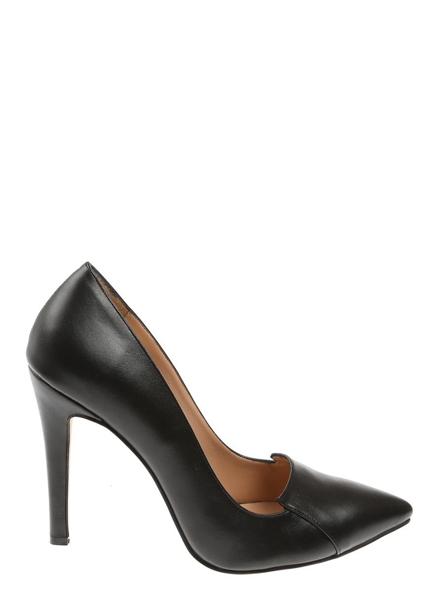 39 Siyah Queen Bee Topuklu Ayakkabı Çanta Kadın