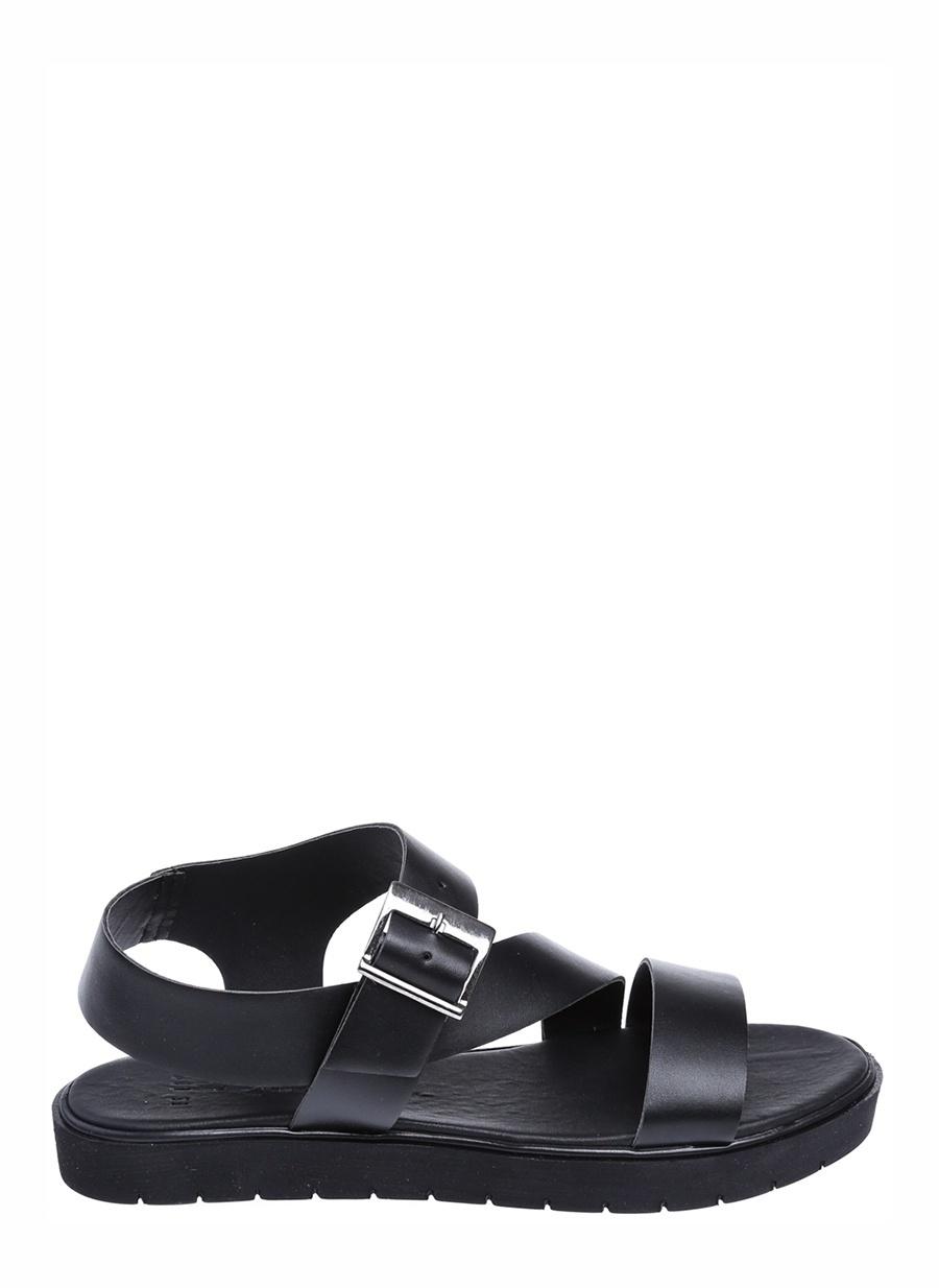 36 Siyah Queen Bee Sandalet Ayakkabı Çanta Kadın Terlik