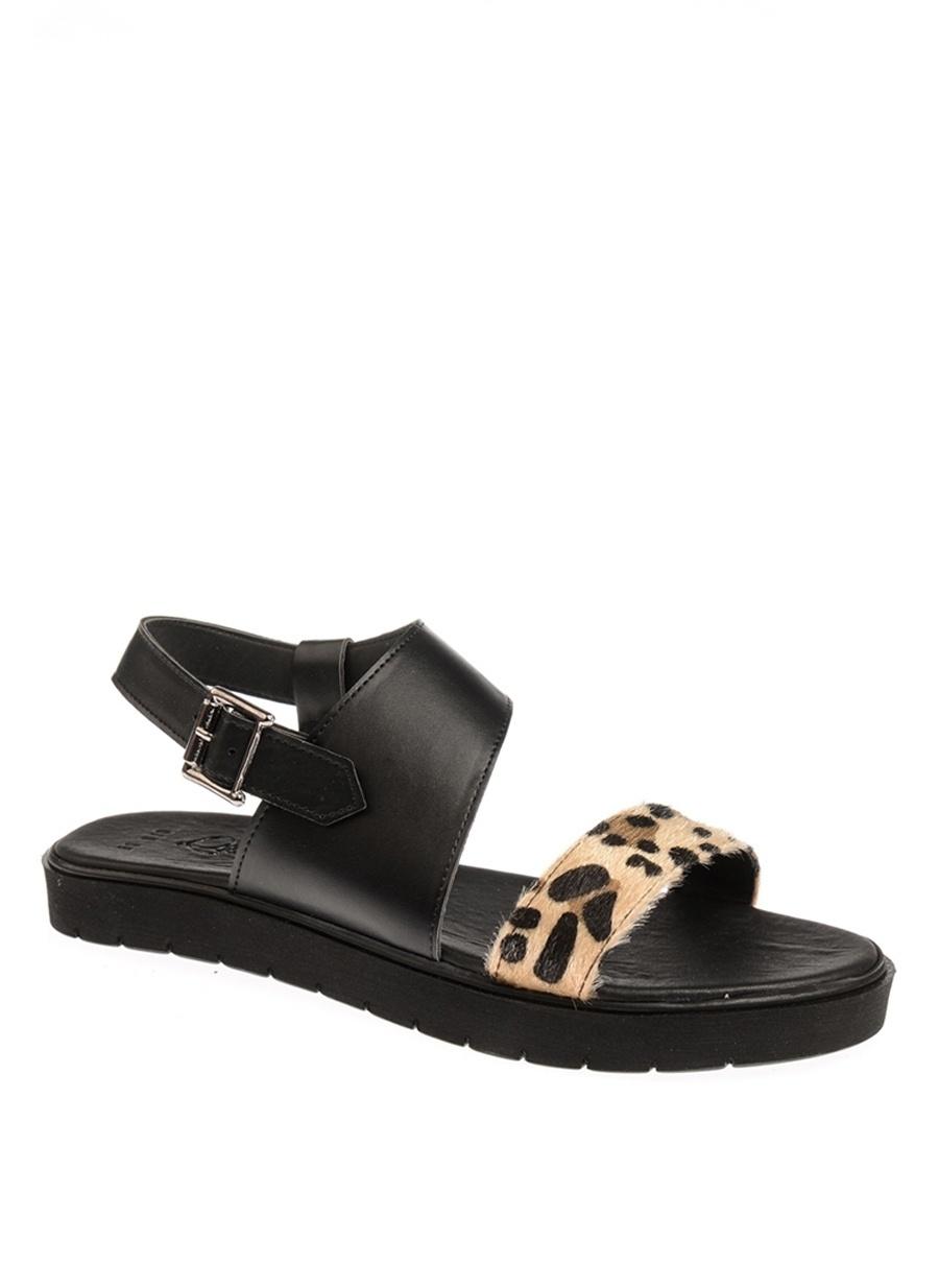 36 Çok Renkli Queen Bee Leopar Sandalet Ayakkabı Çanta Kadın Terlik