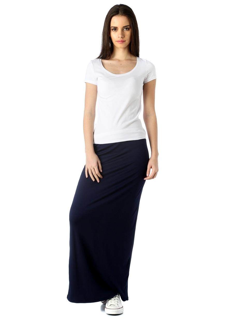 L Koyu Lacivert Fashion Friends Etek Kadın Giyim