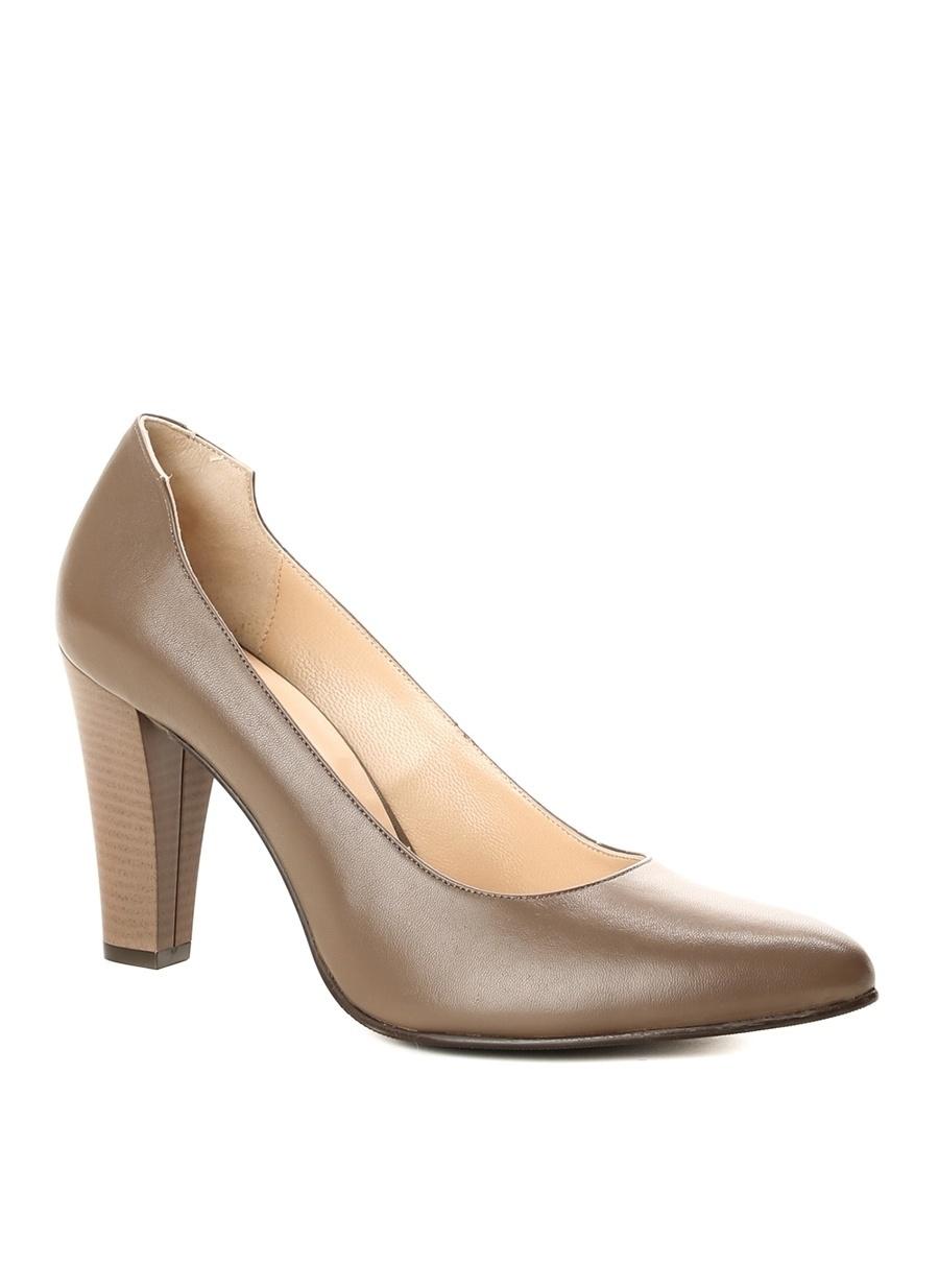 37 Vizon Divarese Topuklu Ayakkabı Çanta Kadın