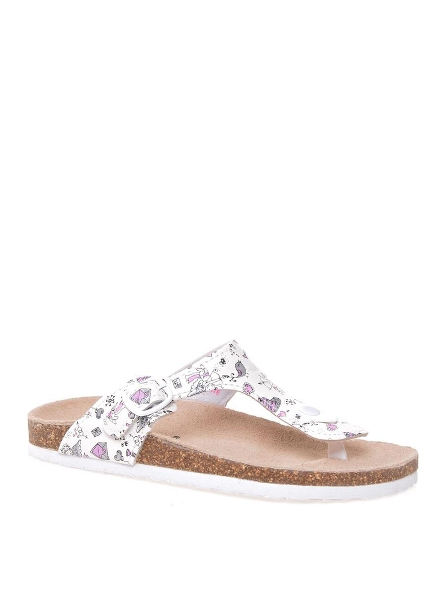 31 Kadın Beyaz Pinkstep Plaj Terliği Ayakkabı Çanta Çocuk Ayakkabıları Terlik Sandaletler