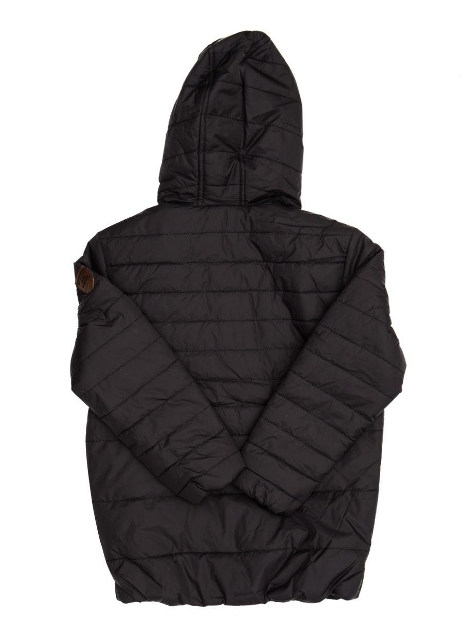 10 Yaş Erkek Siyah Limon Mont Çocuk Dış Giyim