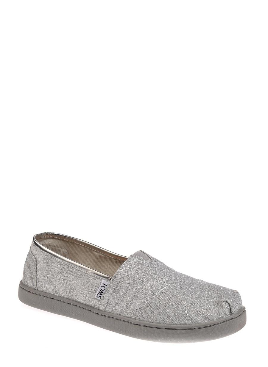 37.5 Kadın Gümüş Toms Babet Ayakkabı Çanta Çocuk Ayakkabıları Babetler