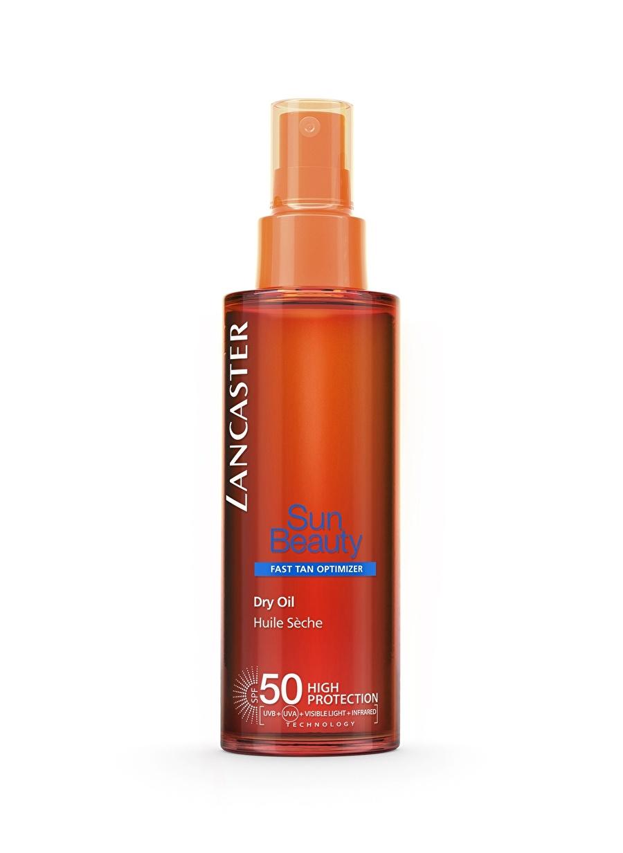 Standart unisex Renksiz Lancaster Sun Beauty Dry Oil Fast Tan Optimizer Spf50 150Ml Güneş Ürünü Kozmetik Ürünleri