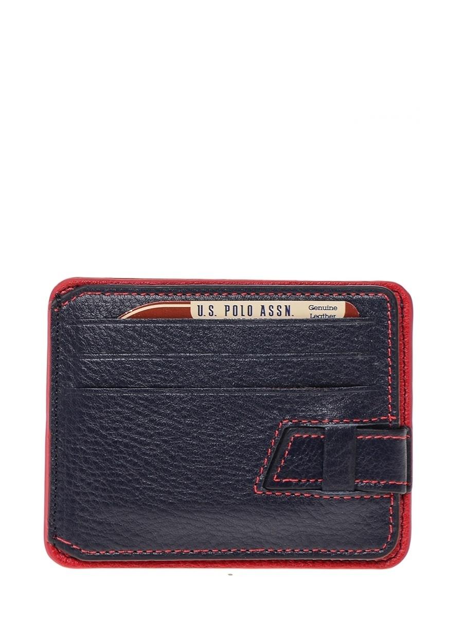 Standart Koyu Lacivert U.S. Polo Assn. Kartlık Ayakkabı Çanta Erkek Cüzdan