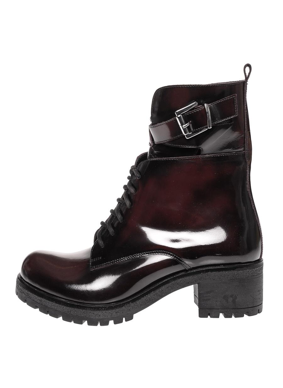 39 Şarap Black Pepper Bordo Bot Ayakkabı Çanta Kadın Çizme