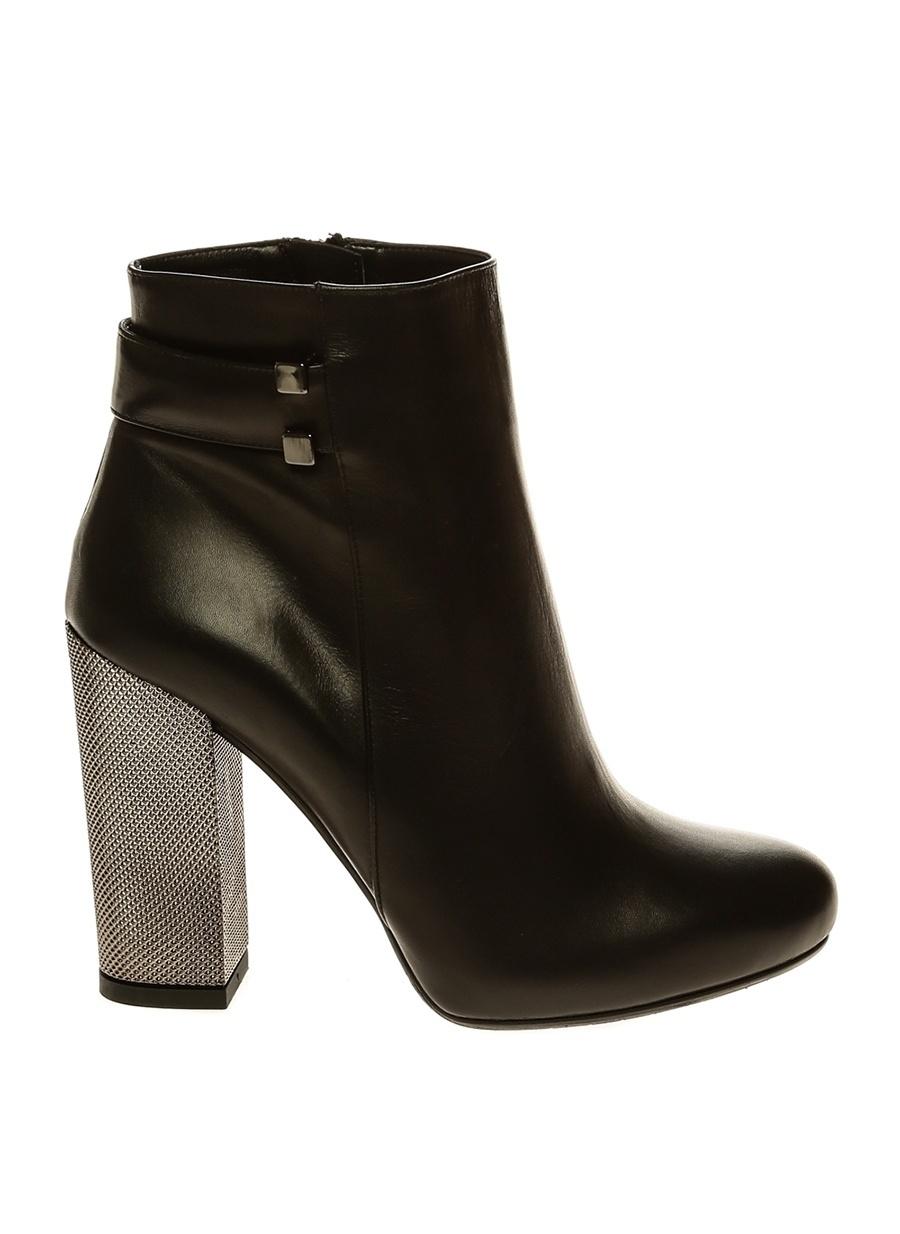 39 Siyah Albano Bot Ayakkabı Çanta Kadın Çizme