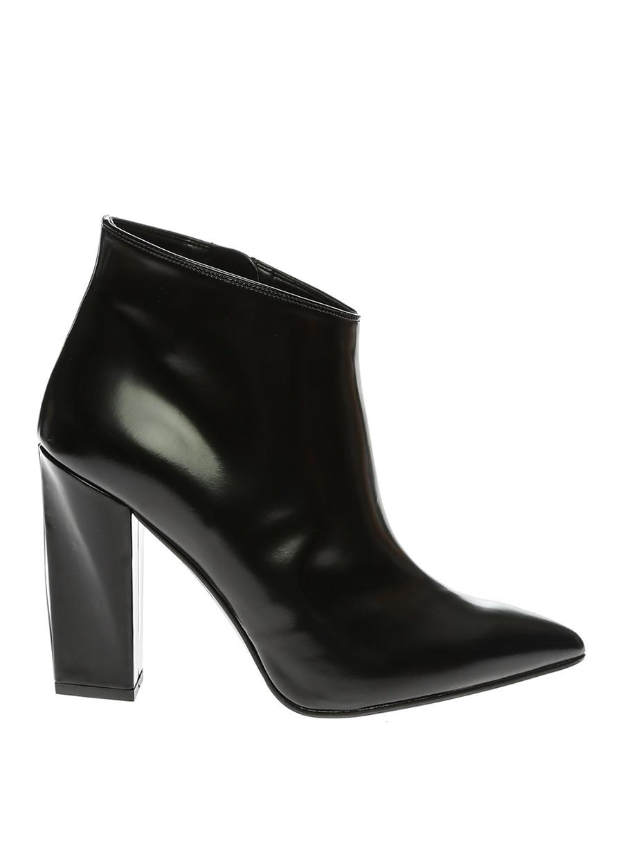 37 Siyah Albano Bot Ayakkabı Çanta Kadın Çizme