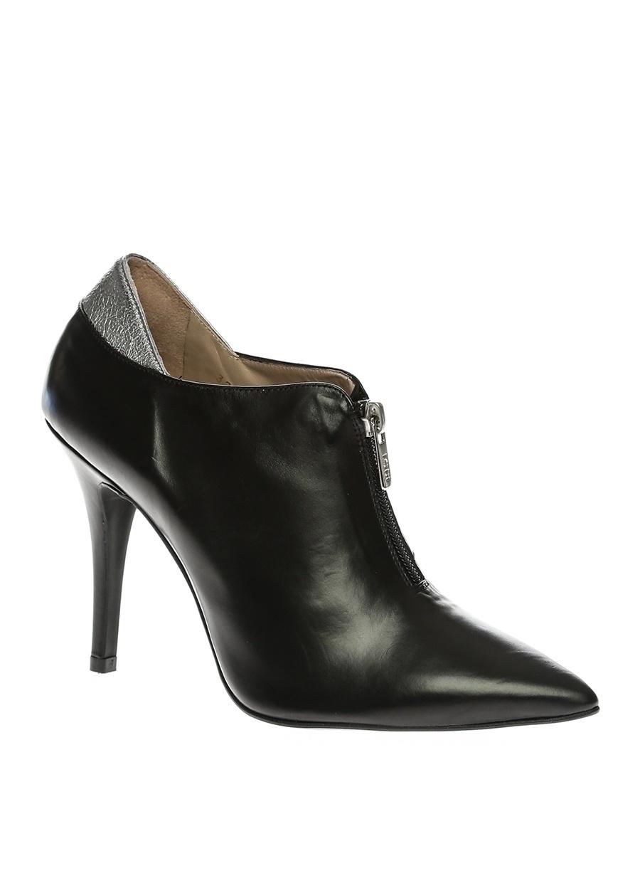 37 Siyah Lodi Topuklu Ayakkabı Çanta Kadın