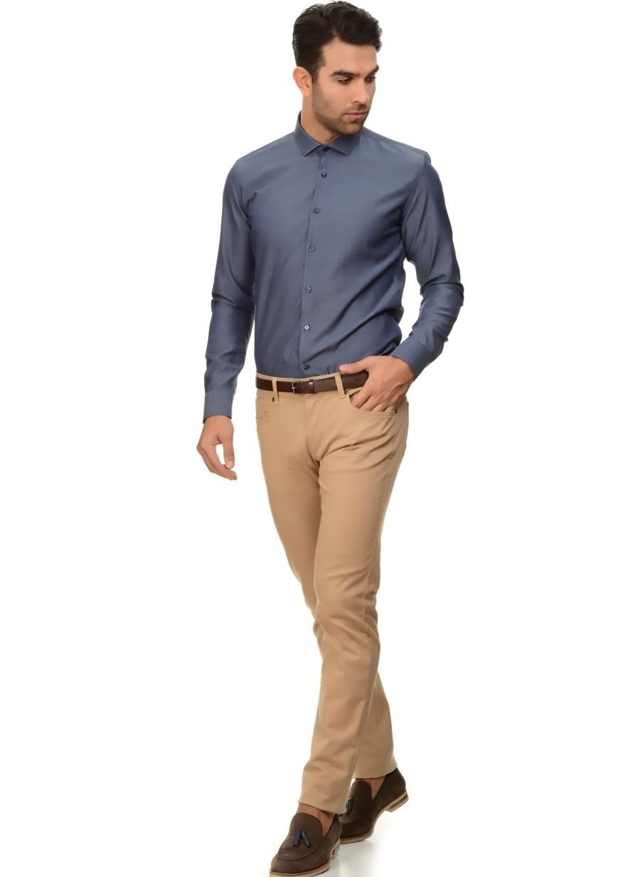 36-32 Bej Avva Casual Yeşil Denim Pantolon Erkek Giyim Jean