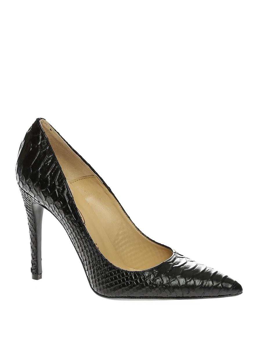 40 Siyah Bianca Di Topuklu Ayakkabı Çanta Kadın