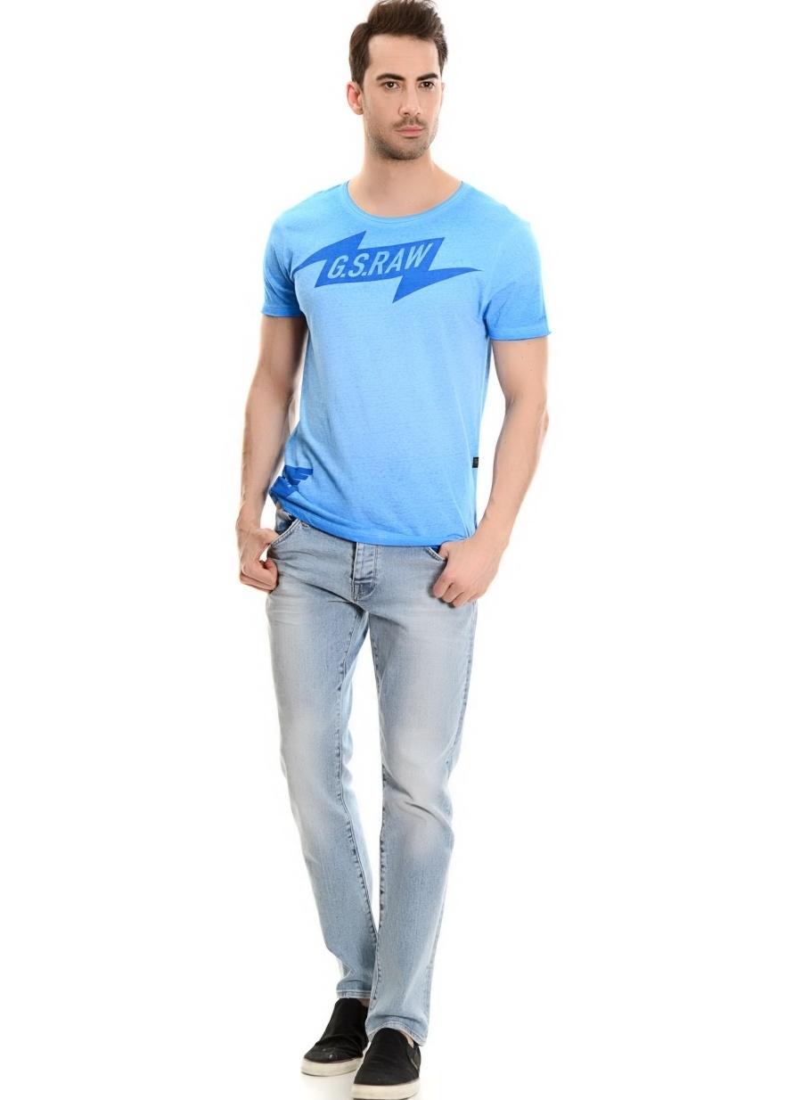 S Mavi G-Star T-Shirt Spor Erkek Giyim T-shirt
