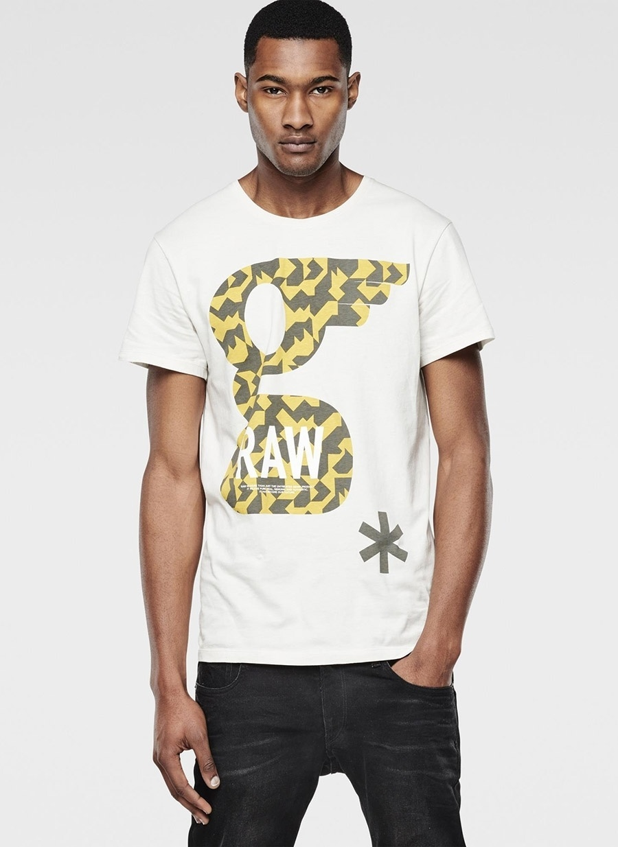 S Renksiz G-Star T-Shirt Spor Erkek Giyim T-shirt