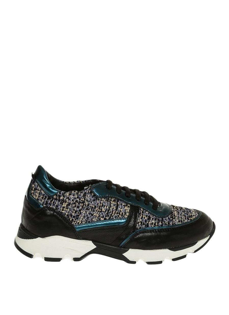 37 Mavi Dienneg Düz Ayakkabı Çanta Kadın