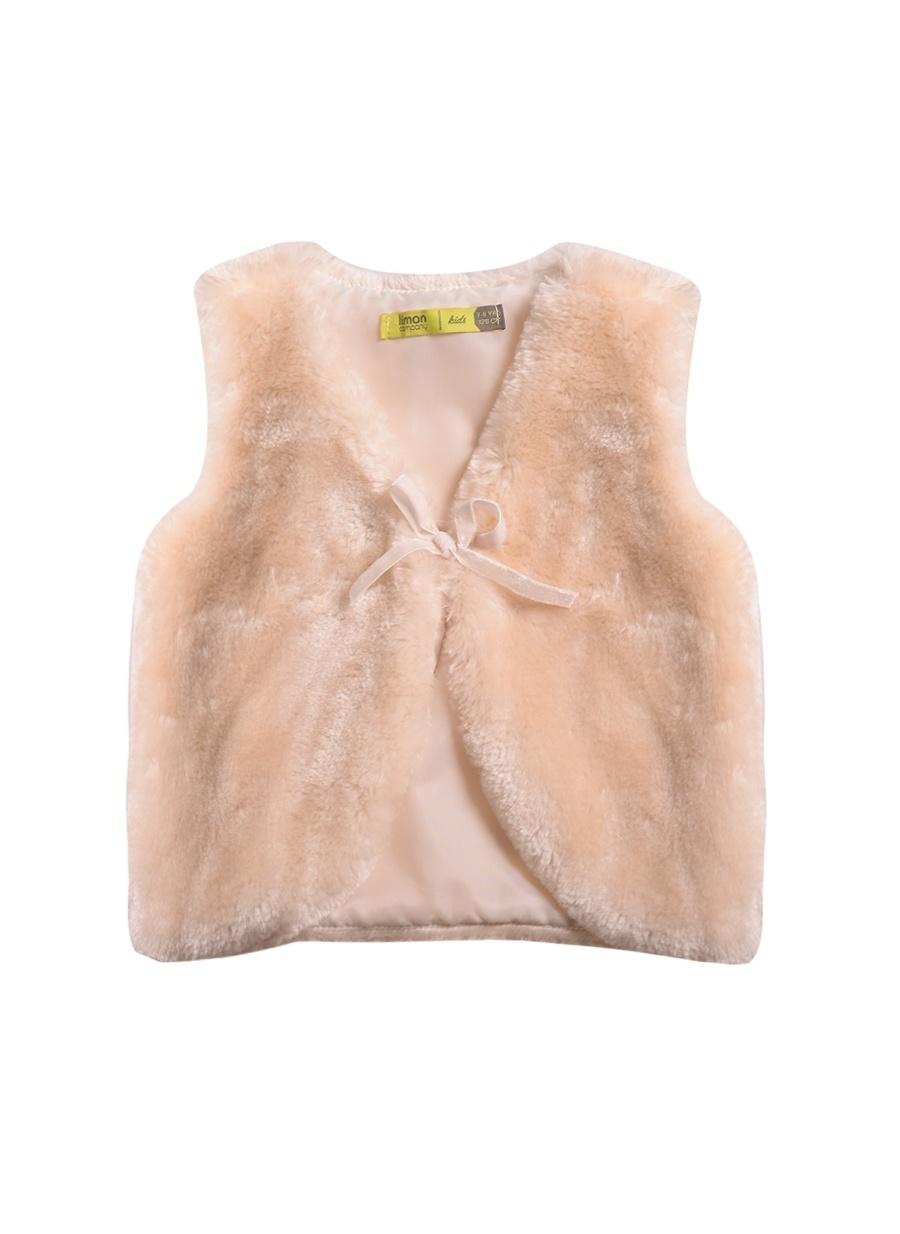14 Yaş Kadın Koyu Ekru Limon Yelek Çocuk Giyim Ceket