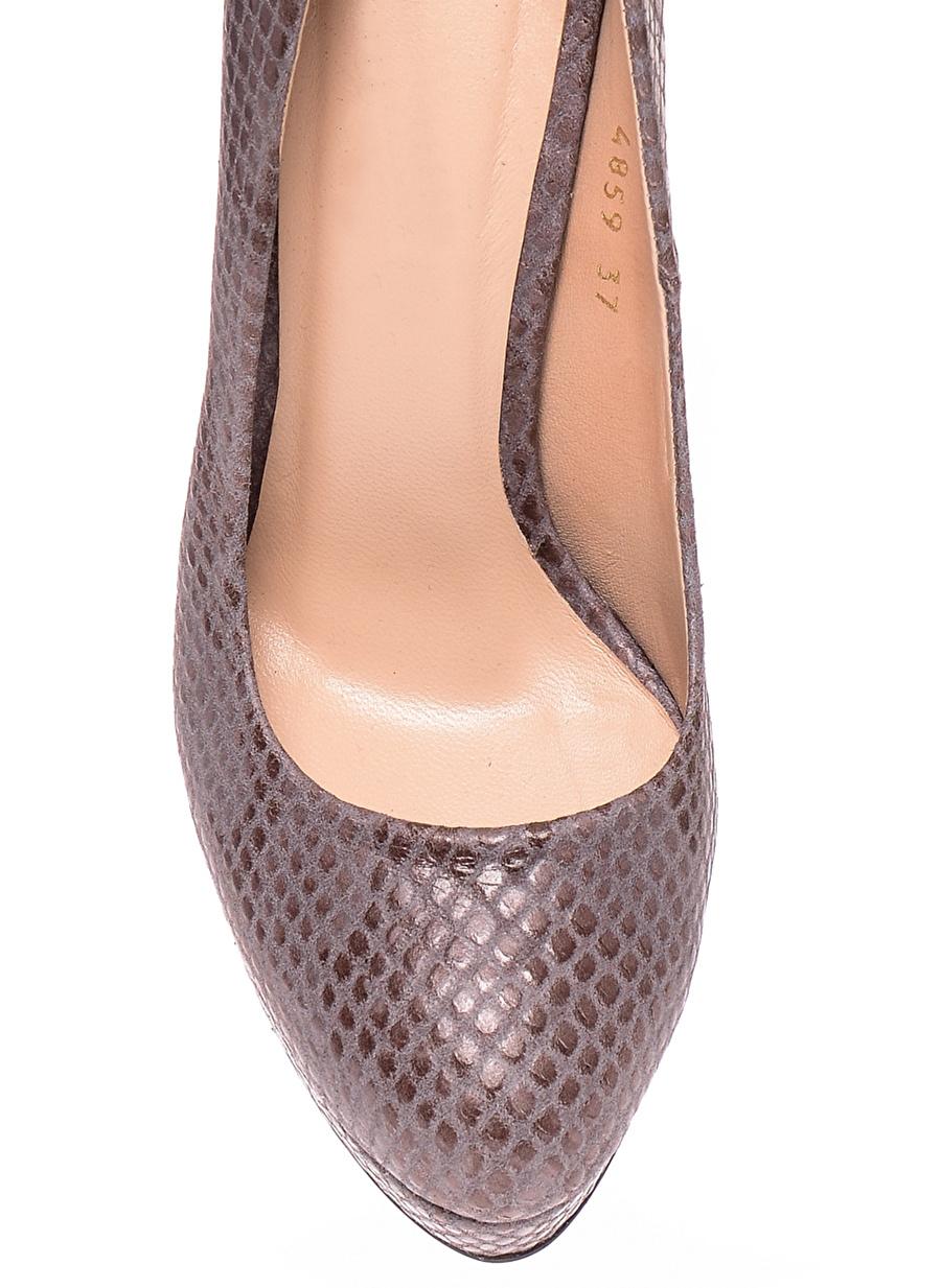 39 Koyu Antrasit House Of Camellia Topuklu Ayakkabı Çanta Kadın