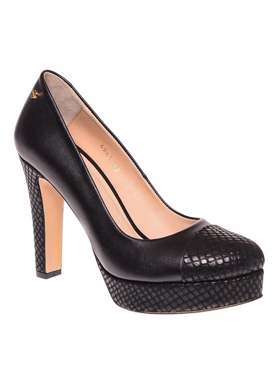 39 Şarap House Of Camellia Bordo Topuklu Ayakkabı Çanta Kadın