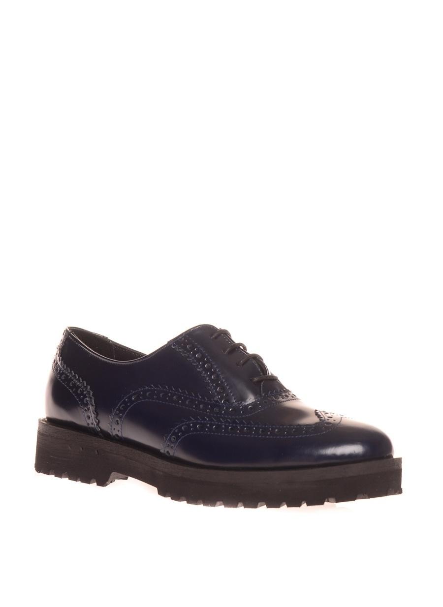 38 Koyu Lacivert Black Pepper Düz Ayakkabı Çanta Kadın