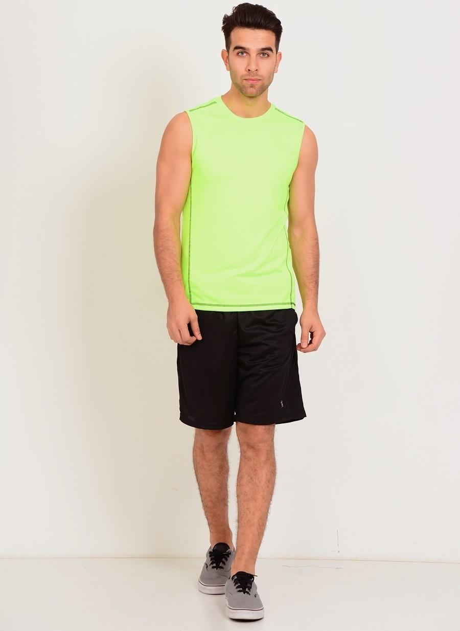 L Siyah T-Box Kargo Şort Erkek Spor Giyim
