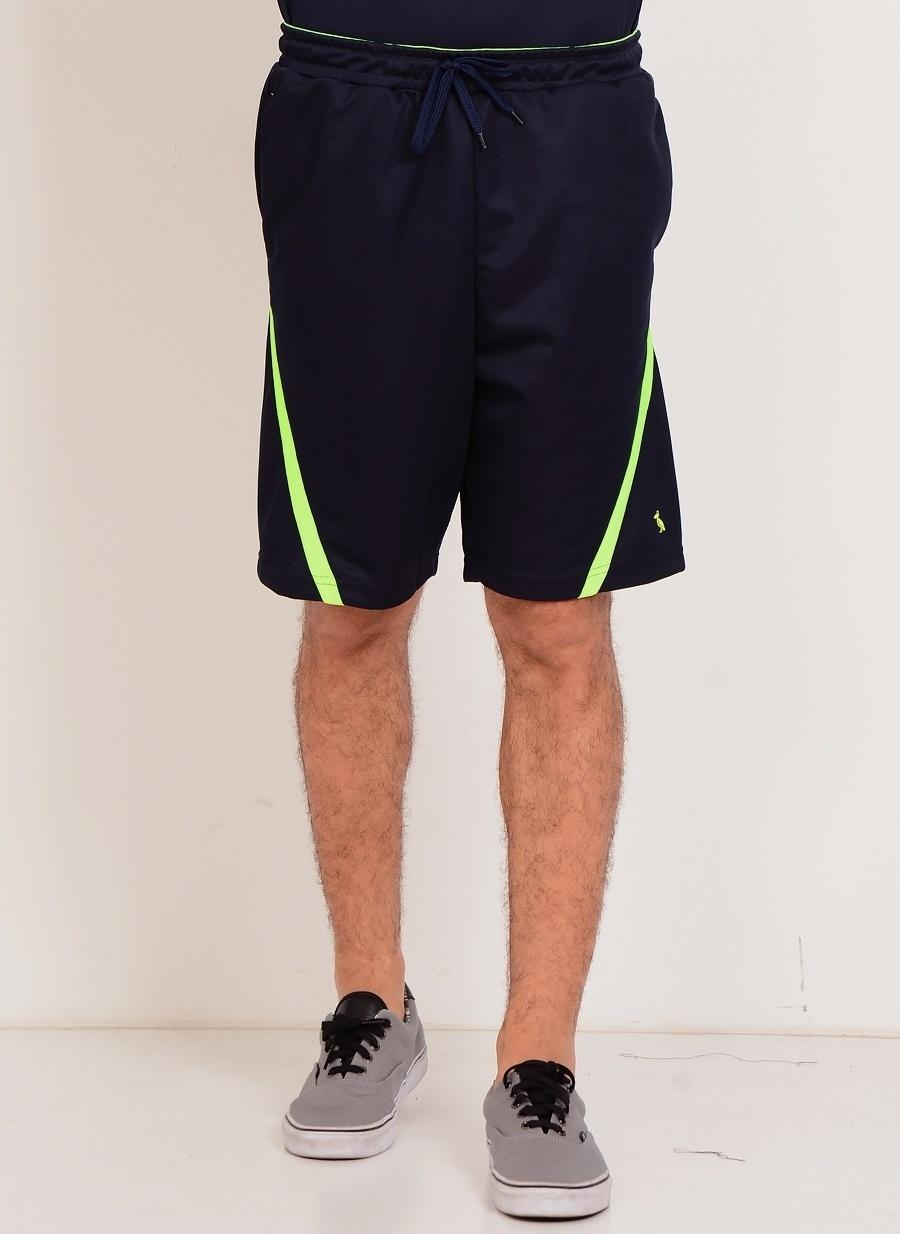 2XL Koyu Lacivert T-Box Kargo Şort Erkek Spor Giyim