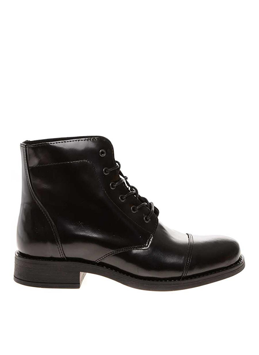 40 Siyah Pieces Bot Ayakkabı Çanta Kadın Çizme